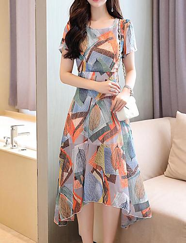 4393a93a145 Γυναικεία Αργίες Δουλειά Κομψό στυλ street Εκλεπτυσμένο Θήκη Φόρεμα - Καρό  Μίντι Ως το Γόνατο / Sexy