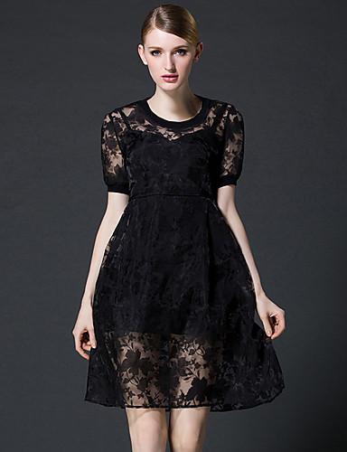 femme grandes tailles slim gaine robe couleur pleine col. Black Bedroom Furniture Sets. Home Design Ideas