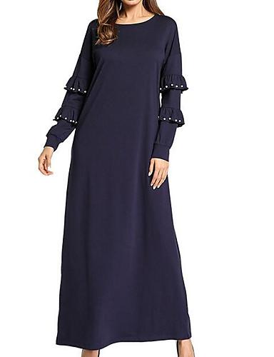 Damskie Wyjściowe Moda miejska Swing Sukienka - Solidne kolory Maxi
