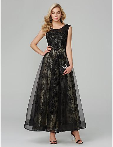4cb95a7d45017 A-الخط جوهرة طول الأرض تول ظهر مفتوح حفلة كوكتيل   حفلة رسمية فستان مع زينة بواسطة  TS Couture®