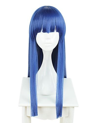 voordelige Cosplay Pruiken-Cosplay Cosplaypruiken Allemaal 28 inch(es) Hittebestendige vezel Int Blauw Anime