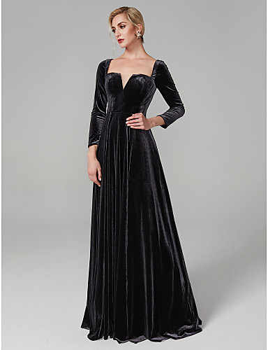28070310e99b Ball Gown Square Neck Floor Length Velvet Celebrity Style Cocktail Party / Formal  Evening Dress with Pleats by TS Couture® #06490493
