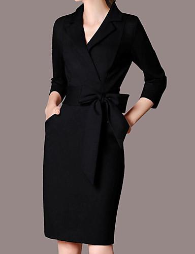 61e1d34f984 Χαμηλού Κόστους Επαγγελματικά Φορέματα-Γυναικεία Μεγάλα Μεγέθη Πάρτι  Δουλειά Κομψό στυλ street Εκλεπτυσμένο Λεπτό Εφαρμοστό