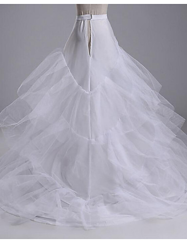abordables Dessous de Robe de Mariage-Mariage Soirée Déshabillés Coton Longueur Cathédrale Chapelle Irrégulier avec Elastique