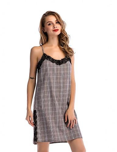 Pentru femei Concediu / Ieșire Șic Stradă / Sofisticat Zvelt Shift Rochie Geometric Cu Bretele Talie Înaltă Sub Genunchi / Vară