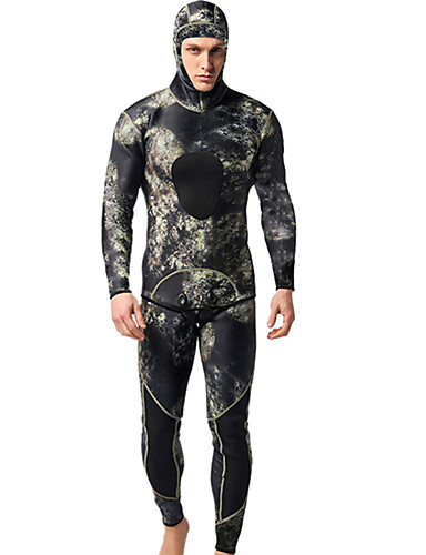 13e44910dba9a Men's Full Wetsuit 3mm Neoprene Diving Suit Waterproof Thermal / Warm Long  Sleeve 2-Piece - Swimming Diving Surfing Camo / Camouflage Spring Summer  Fall ...