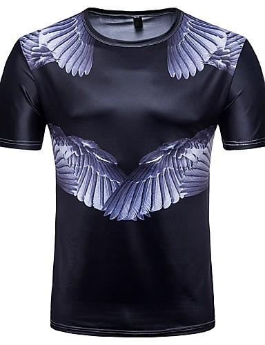 Bărbați Tricou De Bază - Mată / Bloc Culoare Imprimeu