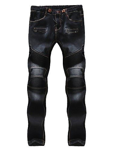 Bărbați Bumbac Zvelt Blugi Pantaloni Mată