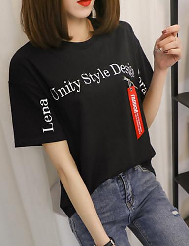 Pentru femei Mărime Plus Size Tricou Bumbac Mată / Scrisă