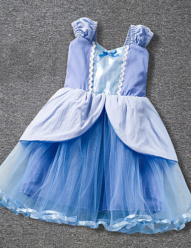 Brzdąc Dla dziewczynek Patchwork Bez rękawów Sukienka