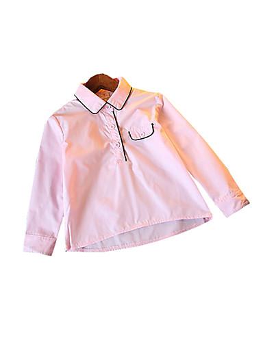 Brzdąc Dla dziewczynek Jendolity kolor Długi rękaw Koszula