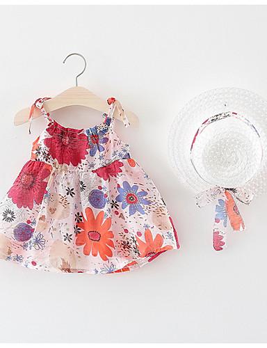 Dziecko Dla dziewczynek Kwiaty Bez rękawów Sukienka