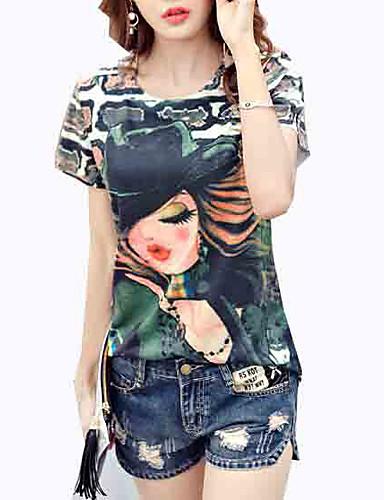 tricou pentru femei - portret rotund