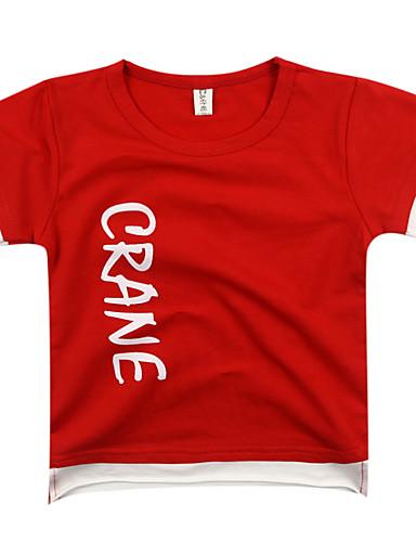 Dzieci / Brzdąc Dla chłopców Geometryczny Krótki rękaw T-shirt