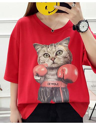 T-shirt Damskie Vintage, Frędzel Jendolity kolor Czarno-biały