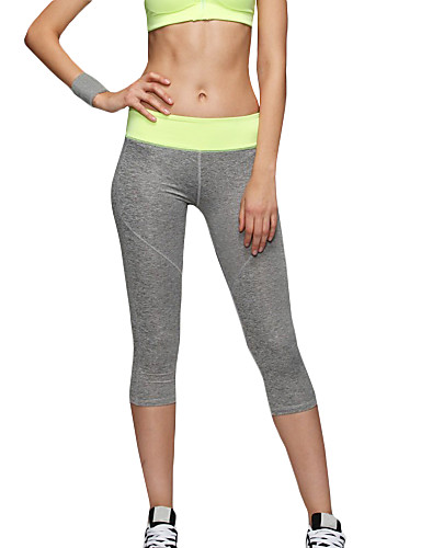 d2d367e58dc Women s Patchwork Yoga Pants Green Blue Pink Sports Fashion Spandex 3 4  Tights Tights Leggings Zumba Running Fitness Activewear Breathable Quick  Dry ...