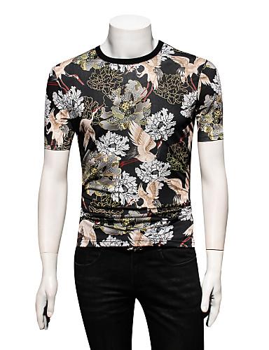 Bărbați Tricou Floral / Animal Macara