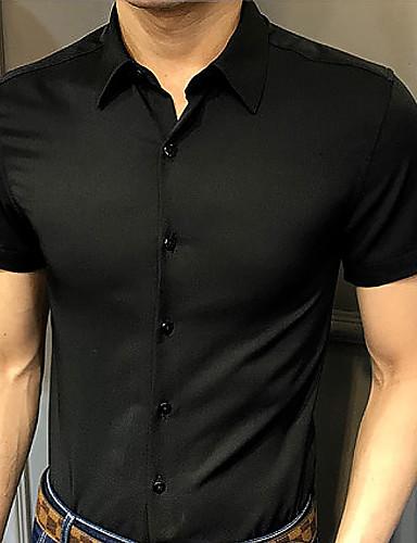 Koszula Męskie Biznes / Podstawowy Jendolity kolor