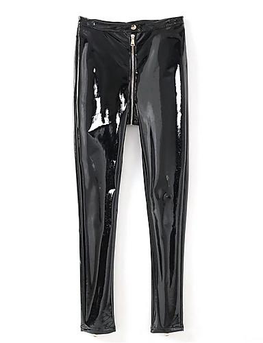 Damskie Podstawowy Typu Chino Spodnie Solidne kolory