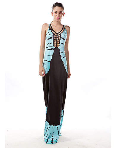 c5ee612c6996 Γυναικεία Αργίες Εξόδου Βασικό Βαμβάκι Λεπτό Γραμμή Α Θήκη Φόρεμα -  Συνδυασμός Χρωμάτων