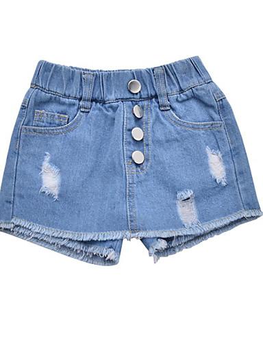 Dzieci Dla dziewczynek Jendolity kolor Spodnie