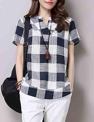 povoljno Ženske majice-Majica Žene Dnevno Color block V izrez Crn