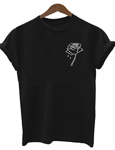 tricou pentru femei - gât rotund solid colorat