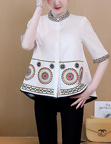 Pentru femei Stil Nautic Bluză Geometric