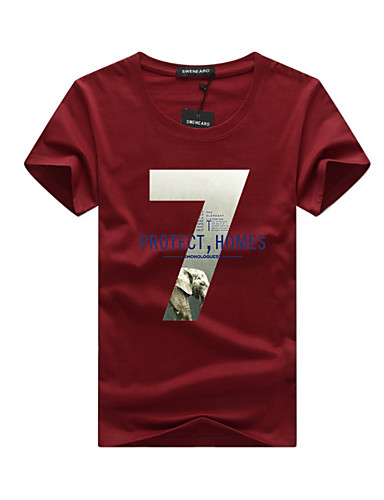 Bărbați Tricou Șic Stradă - Scrisă