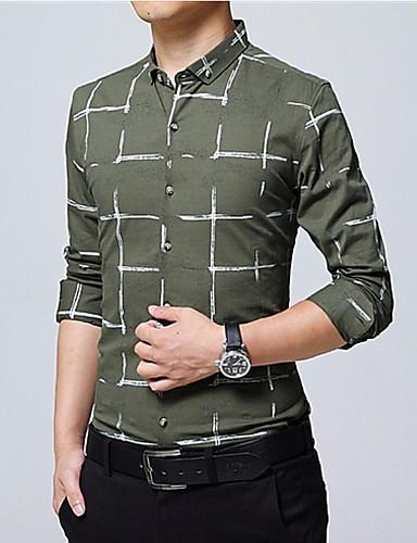 cămașă pentru bărbați - guler în formă de tricou dungat