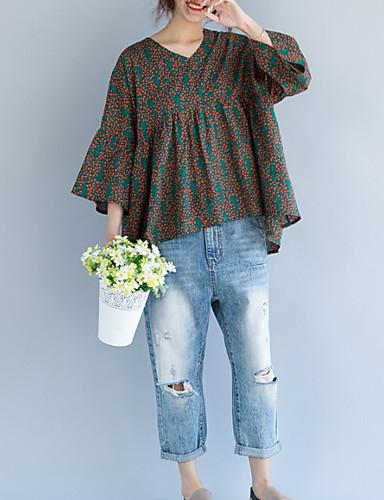 abordables Hauts pour Femme-Tee-shirt Femme, Points Polka Sortie Vert
