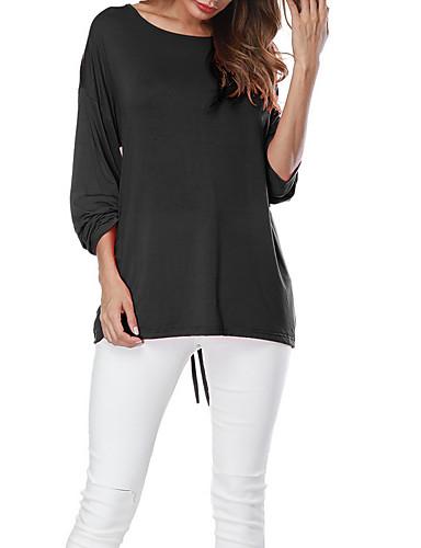 Pentru femei Tricou De Bază - Mată Cu Șiret / Larg