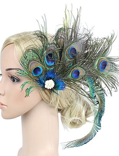 povoljno Ukrasi za kosu-Žene Kentucky Derby Vintage Elegantno Cvijet,Tekstil-Kubični Zirconia / Vjenčanje / Sva doba