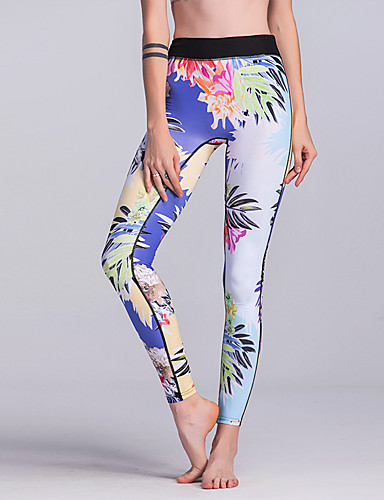 Pentru femei Sport / De Bază Legging - Floral Talie Înaltă