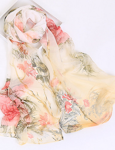 63012b27430 Women's Rayon / Polyester Rectangle Scarf - Floral Mesh / All Seasons