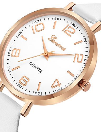 Geneva Pentru femei Ceas Elegant  Ceas de Mână Quartz Model nou Ceas Casual Cool Piele Bandă Analog Casual Modă Negru / Alb / Albastru - Negru Maro Albastru Un an Durată de Viaţă Baterie