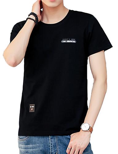 Bărbați Tricou De Bază - Scrisă Imprimeu