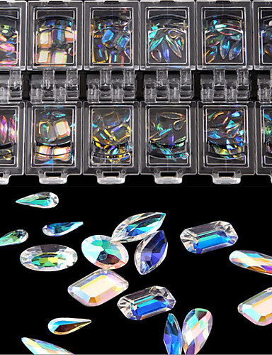 povoljno Ljepota i kosa-100 pcs Modni dizajn / Kreativan / Crystal / Rhinestone Crystal / Rhinestone Nakit za nokte Za nail art Manikura Pedikura Dnevni Nosite / Vježbanje Stilski