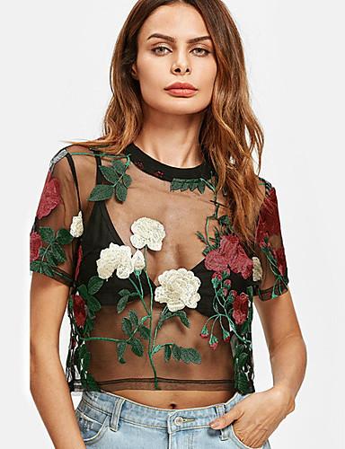 Pentru femei Bluză Ieșire Floral