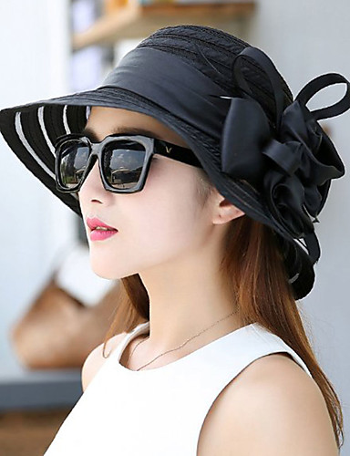 0363622dbd2 Women s Party   Holiday Lace Bucket Hat   Floppy Hat   Straw Hat -  Patchwork Ruffle   All Seasons
