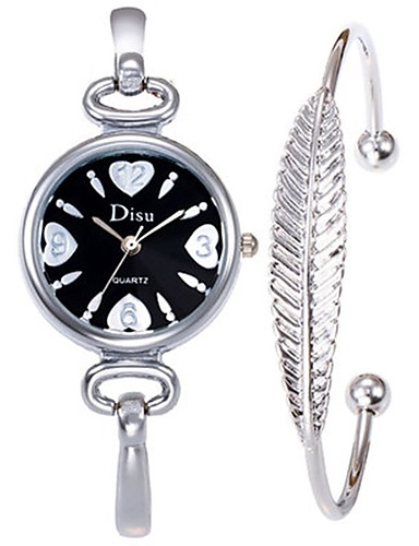 Pentru femei Ceas Elegant Ceas Brățară Quartz 30 m Creative Oțel inoxidabil Bandă Analog Atârnat Elegant Auriu - Auriu Negru Argintiu Un an Durată de Viaţă Baterie
