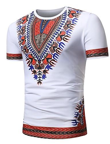 Bărbați Tricou Boho - Floral / Bloc Culoare / Tribal Imprimeu