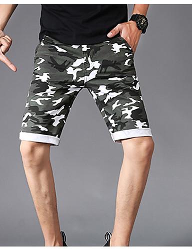 Bărbați De Bază Pantaloni Scurți Pantaloni camuflaj
