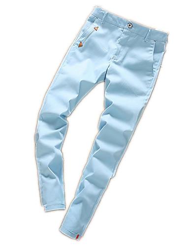 Bărbați De Bază Bumbac Zvelt Pantaloni Chinos Pantaloni Mată / Sfârșit de săptămână