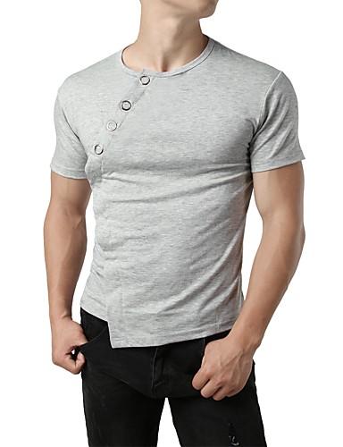billige T-shirts og undertrøjer til herrer-Rund hals Herre - Ensfarvet Gade / Punk & gotisk T-shirt Sort L / Kortærmet