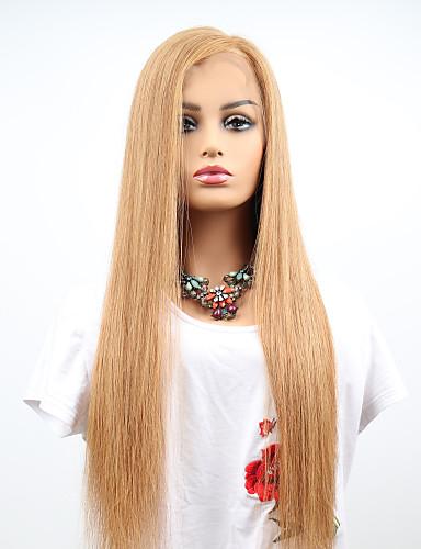 povoljno Perike s ljudskom kosom-Remy kosa Full Lace Perika Asimetrična frizura Kardashian stil Brazilska kosa Ravan kroj Perika 130% Gustoća kose s dječjom kosom Žene Jednostavan dressing Sexy Lady Prirodno Žene Srednja dužina