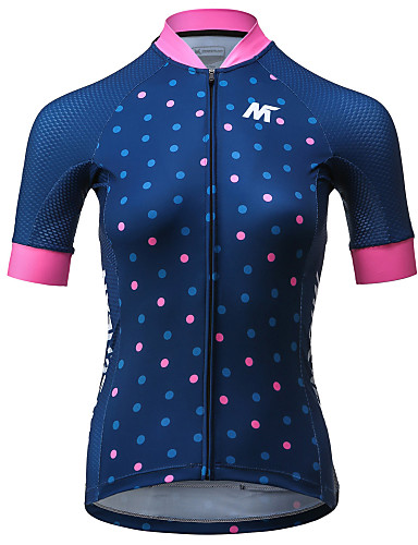 cheap Cycling Clothing-Mysenlan Women's Short Sleeve Cycling Jersey - Dark Blue Polka Dot Bike Jersey Sports Polyester Mountain Bike MTB Road Bike Cycling Clothing Apparel / Expert / Expert / Italian Ink