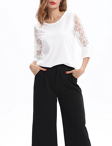 Majica s rukavima Žene Dnevno Jednobojni