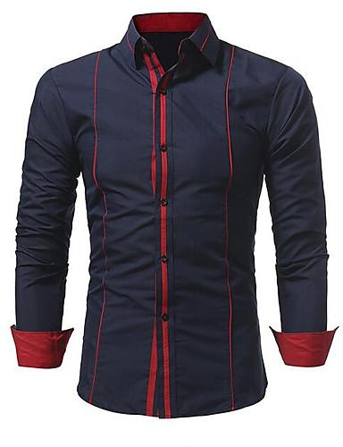 Majica Muškarci - Ulični šik Izlasci Jednobojni / Color block / Dugih rukava