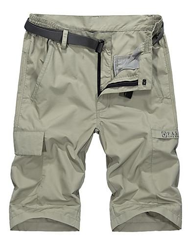 Muškarci Širok kroj Kratke hlače Hlače - Jednobojni Sive boje